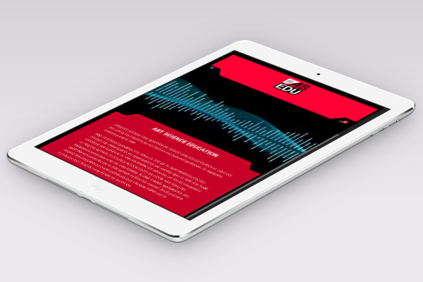 Responsive web design for tablets